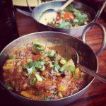 Curry de calabaza con arroz basmati (Comida hindú)