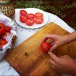 Tomates secos: paso 1
